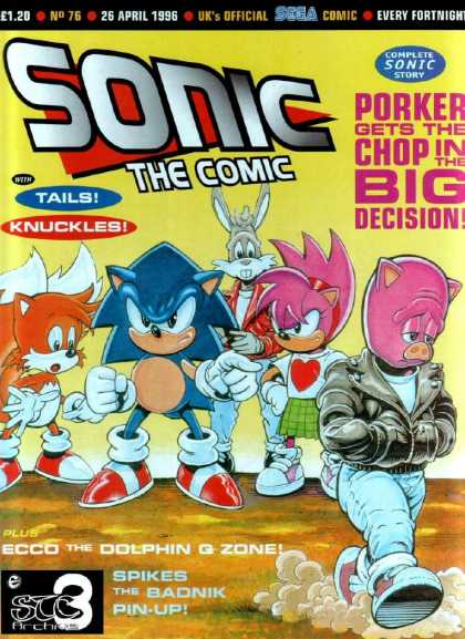 Sonic the Comic 76 - Tails - Knuckles - Sega - Entertainment - Porker