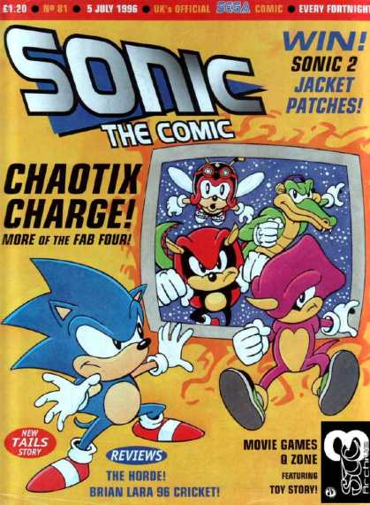 Sonic the Comic 81 - Sonic The Comic - 5 July 1996 - Chaotix Charge - New Tails Story - Q Zone