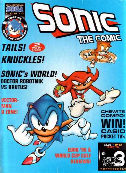 Sonic the Comic 82 - Youve Played The Game Now Read The Comic - The Doctor Is In - Oh No Its Brutus - Enter Your Chance To Win A Pocket Tv - Now Entering The Vector-man Zone