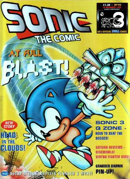 Sonic the Comic 92 - Blast - Pin-up - New Story - Head In The Clouds - How To Beat The Bosses