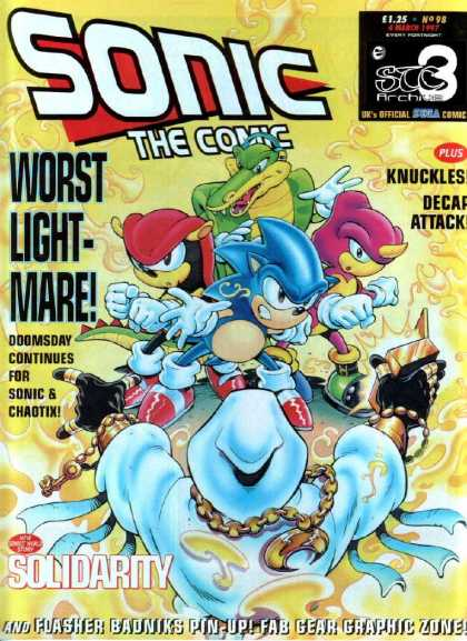 Sonic the Comic 98 - Worst Lightmare - Knuckles - Decar Attack - Crocodile - Solidarity