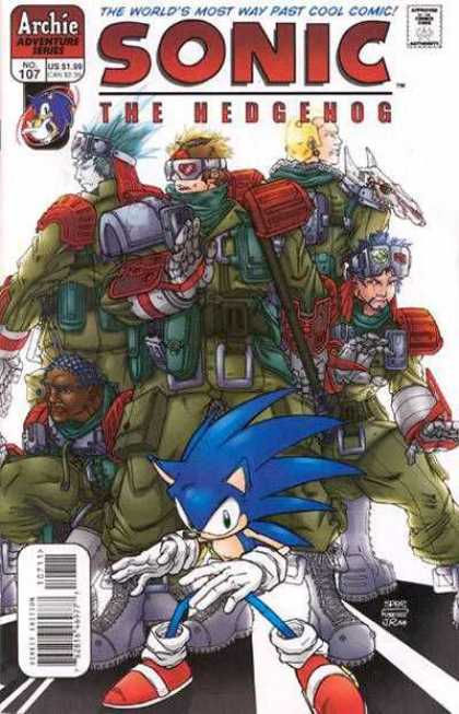 Sonic the Hedgehog 107 - Red Shoes - Armor - Crew - Video Game - Clan
