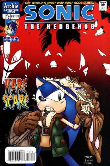 Sonic the Hedgehog 117 - Sonic In Disguise - Hare Scare - The Fastset Hedgehog Alive - Sega - Archie Adventure Series