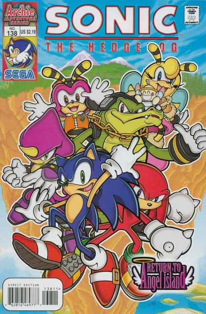 Sonic the Hedgehog 138 - Approved By The Comics Code Authority - Archie Adventure Series - No138 - Sega - Direct Edition