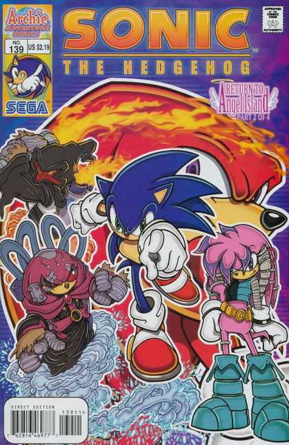 Sonic the Hedgehog 139 - Archie Comics - Approved By The Comics Code Authority - No39 - Sega - Us 219