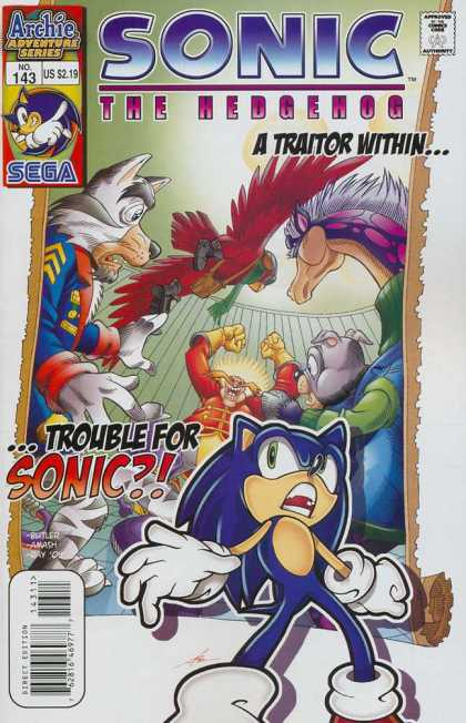 Sonic the Hedgehog 143 - Archie Adventure Series - Sega - Traitor - Approved By The Comics Code Authority - No143