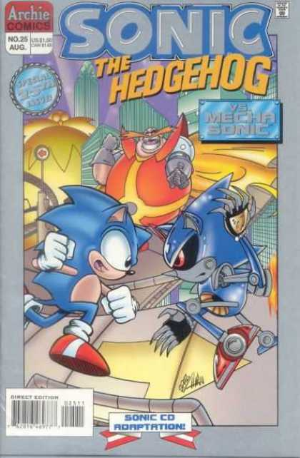 Sonic the Hedgehog 25 - Hedgehog - Blue - Sonic Cd Adaptation - Vs Mecha Sonic - Dual