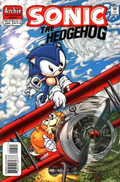 Sonic the Hedgehog 57 - Sonic The Hedgehog - Propellor - Plane - Tails - Flight