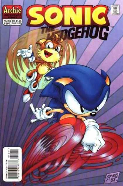 Sonic the Hedgehog 62 - Running - Lavendar And Purple Stripes - Archie - Tails - Direct Edition