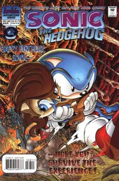 Sonic the Hedgehog 68 - Happy Birthday Sonic - Here You Survive The Experience - Cool Comic - Adventure Series - March