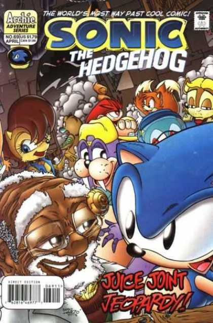 Sonic the Hedgehog 69 - Archie - Adventure Series - Juice Joint Jecopardy - Fox - Cool Comic