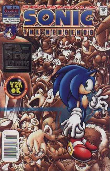 Sonic the Hedgehog 78 - Archie - January - A New Beginning - Y2k Ok - Comics Code Authority
