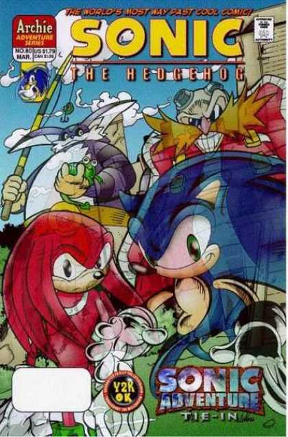 Sonic the Hedgehog 80 - Archie Adventure Series - The Worlds Most Way Past Cool Comic - Sonic Adventure Tie In - Dog - Frog