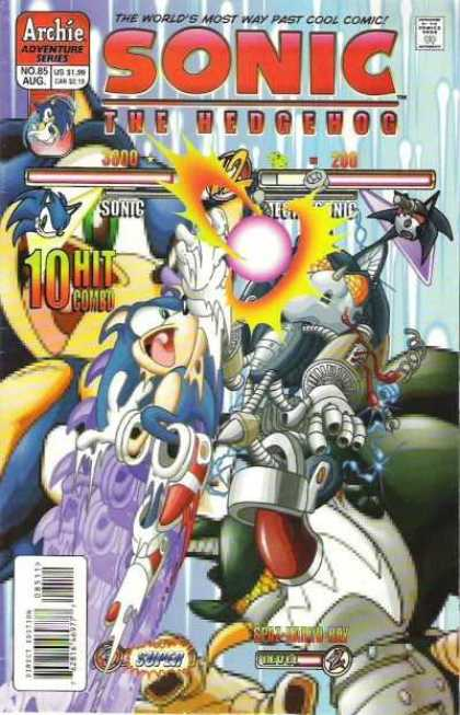 Sonic the Hedgehog 85 - Mecha Sonic - 10 Hit Combo - Life Bars - Red Energy Ball - Knock Out Fight