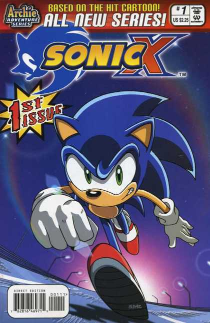 Sonic X 1 - 1st Issue - Based On The Hit Cartoon - Archie Adventure Series - Highway - Night