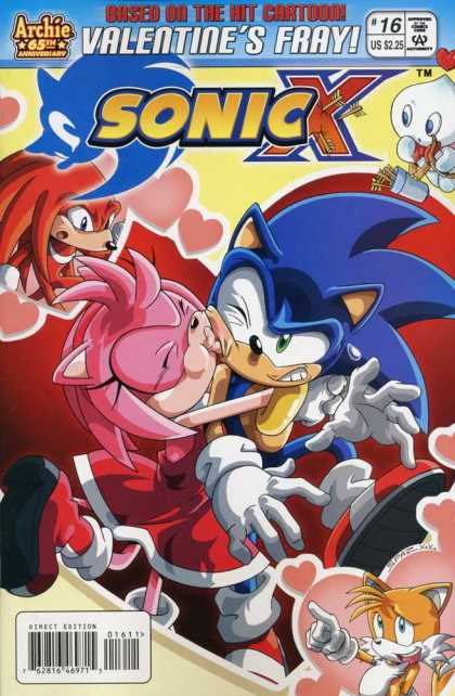 Sonic X 16 - Valentines Fray - Kiss - Arrows - Hearts - Hedgehog
