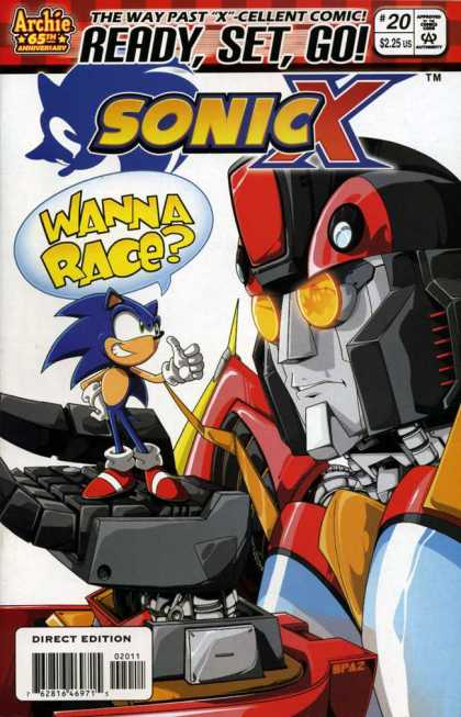 Sonic X 20 - The Way Past X-cellent Comic - Ready Set Go - Wanna Race - Archie 65th Anniversary - Robot