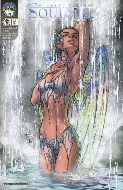 Soulfire 5 - Fairy - Wings - Waterfall - Bikini - Woman - Michael Turner