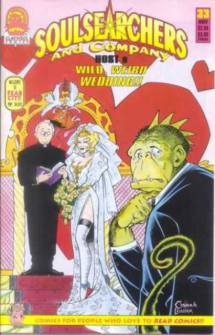 Soulsearchers and Company 33 - Claypool Comics - Wedding - Monkeylizard - Hot Blonde - Minister