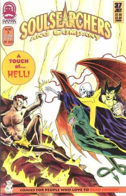 Soulsearchers and Company 37 - A Touch Ofhell - Comics For People Who Love To Read Comics - Skeleton - Demon - Fear City