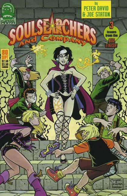 Soulsearchers and Company 80 - Witch - Lightning - Magic - Wand - Kids - Amanda Conner, Steve Leialoha