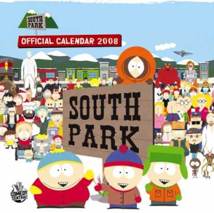South Park Books - SOUTH PARK OFFICIAL 2008 CALENDAR (Calendar)