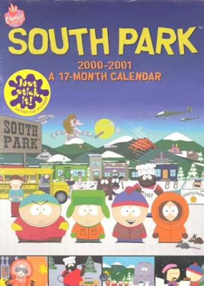South Park Books - South Park Locker 2001 Calendar: 17 Month