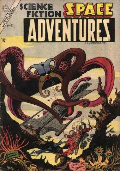 Space Adventures 11 - Octopus - Spaceship - Scuba Diving - Coral - Underwater