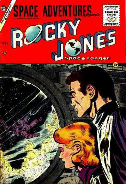 Space Adventures 17 - Rocky Jones - Ranger - Red Head - Outer Space - Port Window