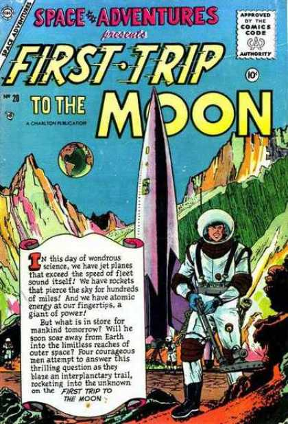 Space Adventures 20 - First Trip To The Moon - Outer Space - Space - Rocket - Astronaut