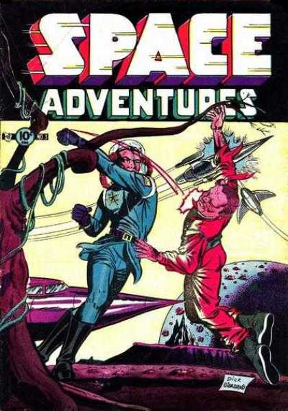 Space Adventures 3 - 10 Cents - Fight - Punch - Rocket - Planet - Dick Giordano, Rocco Mastroserio