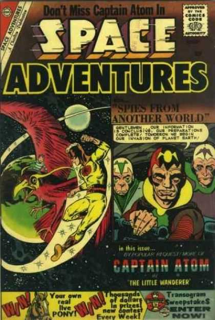 Space Adventures 35 - Dont Miss Captain Atom - The Little Wander - Spies From Another World - Outer Space - Win A Pony
