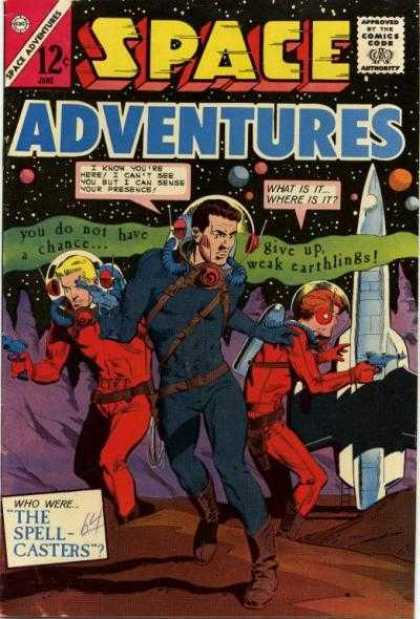 Space Adventures 57 - The Spellcasters - Earthlings - Space - Helmets - Spaceship