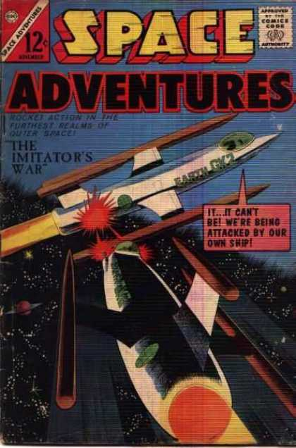 Space Adventures 59 - The Imitators War - Earth Gk2 - Long White Space Ship - Red Laser - Space Attack