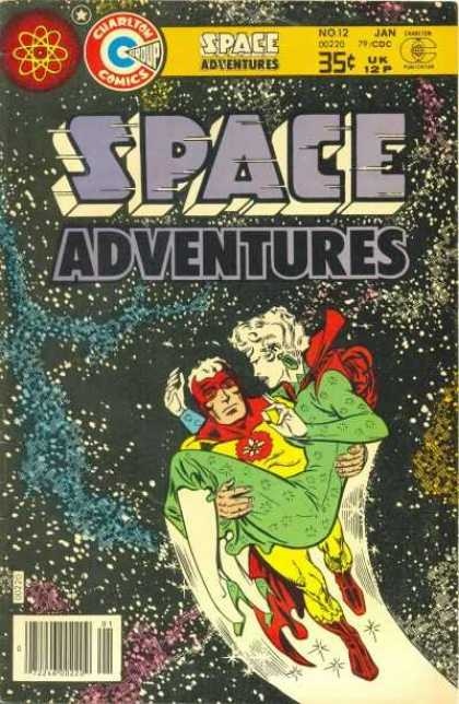Space Adventures 71 - Space - Woman - Green Dress - Flying Man - Atmosphere