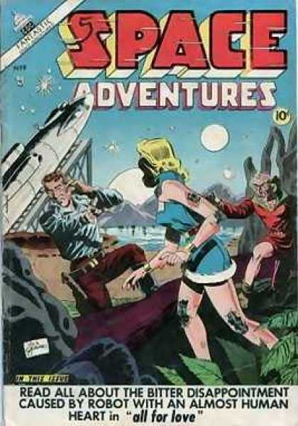 Space Adventures 8 - Fantastic - Space Ship - Woman - Man - All For Love - Dick Giordano, Jim Aparo