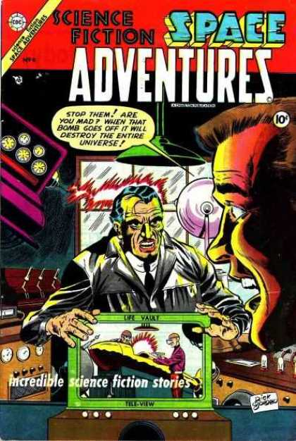 Space Adventures 9 - Science Fiction - Bomb - Entire Universe - Life Vault - Tele-view - Dick Giordano