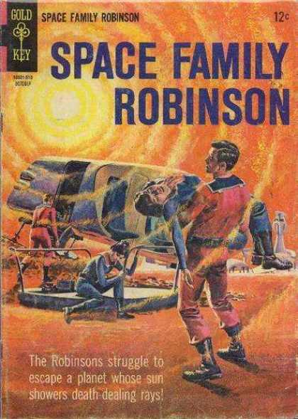 Space Family Robinson 14 - Sun - Death Rays - Escape - Planet - Robinsons