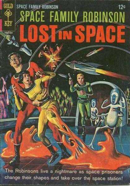 Space Family Robinson 16 - Lost In Space - Gold Key - Rockets - Outer Space - Weapons