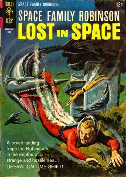 Space Family Robinson 22 - Lost In Space - Fish - Diving - A Crash Landing Traps The Robinsons In The Depths Of A Strange And Hostile Sea - Gold Key