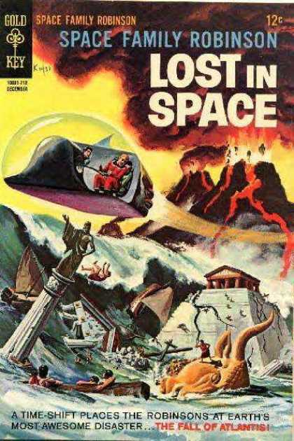 Space Family Robinson 25 - Lost In Space - Spaceship - Ufo - Lava - Fire