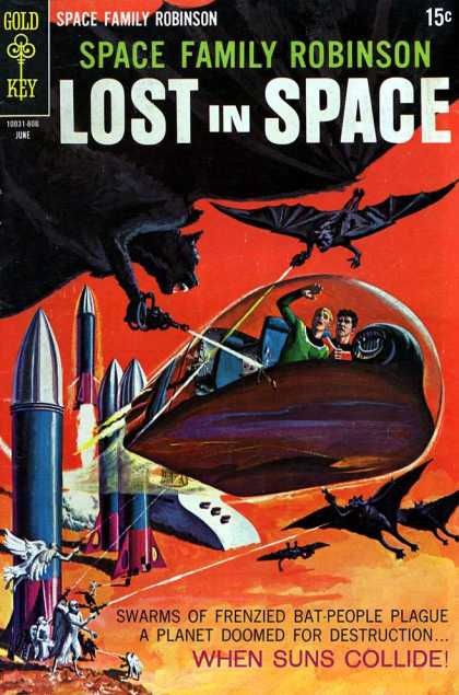 Space Family Robinson 28 - Lost In Space - Bat People - Suns - Rocket - Space Ship