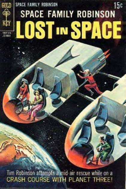 Space Family Robinson 36 - Lost In Space - Space Ship - Mid-air Rescue - Planet 3 - Gold Key