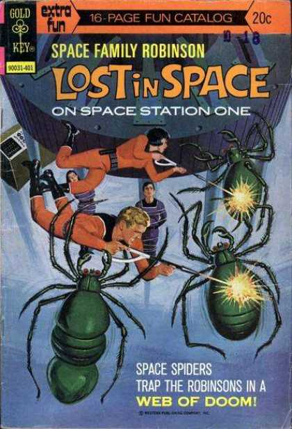 Space Family Robinson 38 - Gold Key - Space Spiders - Lost In Space - 20u00a2 - Web Of Doom