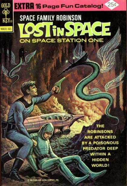 Space Family Robinson 42 - Gold Key - Lost In Space On Space Station One - Space Family - Robinsons Are Attacked By A Poisonous Predator - Robinsons