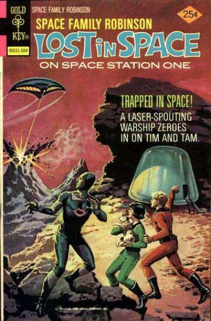 Space Family Robinson 43 - Gold Key - Lost In Space - On Space Station One - Trapped In Space - Ufo
