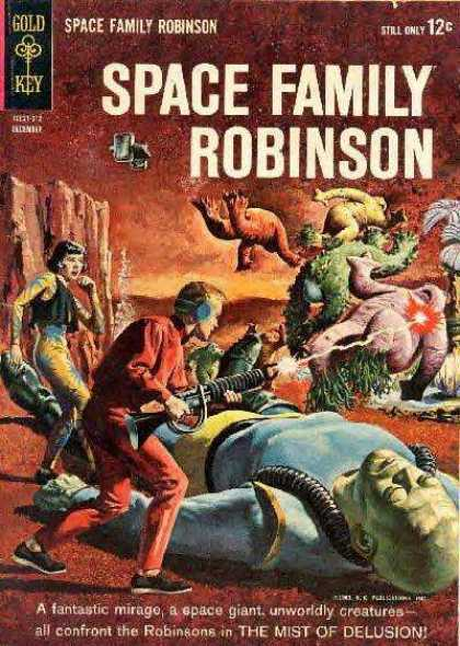 Space Family Robinson 5 - Gun - Red Sky - Laser - Aliens - Human