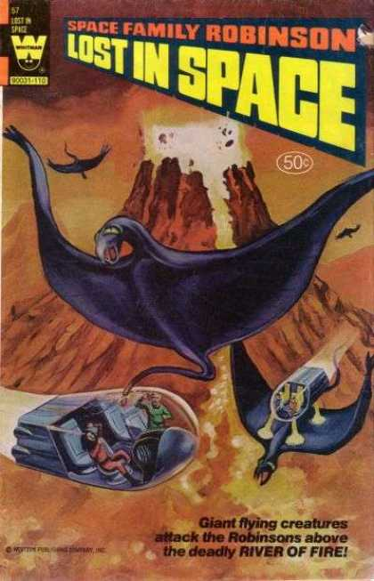 Space Family Robinson 57 - Lost In Space - 50 Cents - Volcano - Flying Creature - River Of Fire