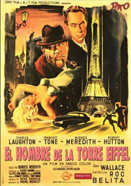 Spanish DVDs - The Man On The Eiffel Tower
