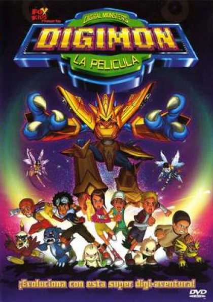 Spanish DVDs - Digimon The Movie
